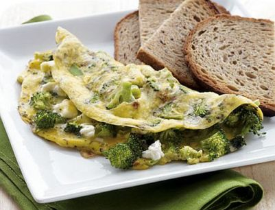 broccoli-feta-omlet